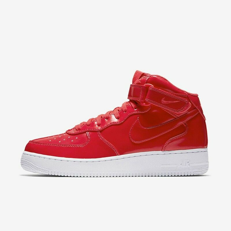 Nike Air Force 1 PATENT Mid AF1 SIREN RED PINK UV PACK PATENT 1 LEATHER AO0702-600 sz 9.5 eb29a2