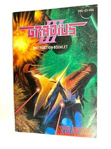 SNES-Gradius-III-3-Instruction-Booklet-Manual-Only-Authentic-No-Game
