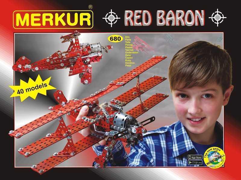 Metal construction set Merkur Red Baron, 2 kg, NEW, made in CZECH REPUBLIC