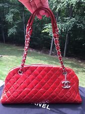 0ebfd578a672a2 item 4 $3400 CHANEL JUST MADEMOISELLE MEDIUM RED GLAZED QUILTED BOWLING  BOWLER HANDBAG -$3400 CHANEL JUST MADEMOISELLE MEDIUM RED GLAZED QUILTED  BOWLING ...