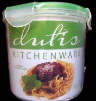 NEW Dutis 8 Piece Easy Lock Food Storage Container Set Microwave+Dishwasher Safe