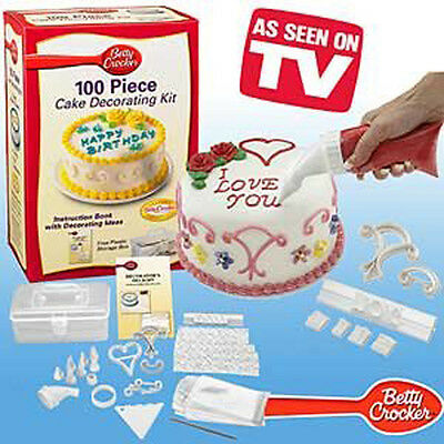 100 cs Cake Decorating Kit 100 PIECE CAKE DECORATING KIT Home DIY SET BOX Pack