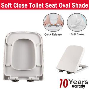 Quadrat Klodeckel Absenkautomatik WC Sitz Toilettendeckel Antibakterieller Neu