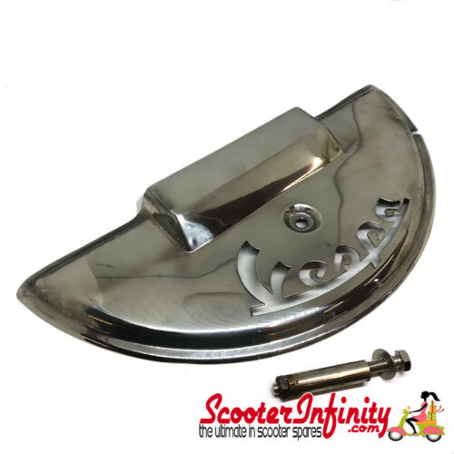 Spare Wheel Cover Half Moon VESPA Laser Cut Stainless Polished Vespa PX80-200//T5