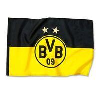 Bvb Fahne Borussia Dortmund emblem 2 Sterne, 80 X 120 Neu