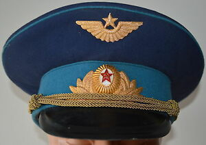 64bb1d4ab Details about Soviet USSR Russian Visor Hat Officer Aviation Air Force  Airborne SIZE 55