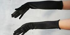 """17.5"""" Long Satin Stretch Gloves Elbow Bridal Prom Opera Wedding Formal Party New"""