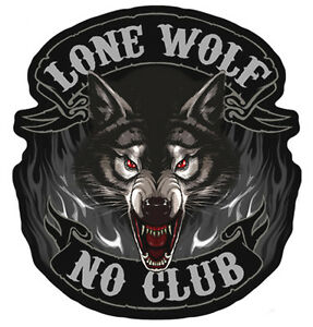 Image Is Loading LONE WOLF CLUB MOTORCYCLE PATCH P3850 Biker Patches