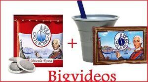 150-CIALDE-CAFFE-BORBONE-MISCELA-ROSSA-ROSSO-ESE44-ESE-44-kit-accessori-150
