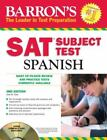 Barron's SAT Subject Test: Spanish with Audio CDs, 3rd Edition by Jose M. Diaz M.A. (2011, Paperback, Revised)