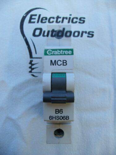 CRABTREE 6 AMP TYPE B 10 kA MCB CIRCUIT BREAKER 230V LOADSTAR 6HS06B BS EN 60989