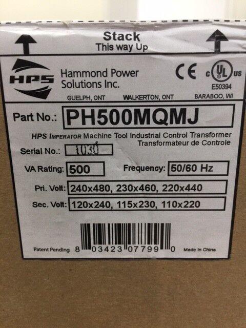 PH500MQMJ - Hammond Power Solutions 500 VA Control Transformer 240x480 on