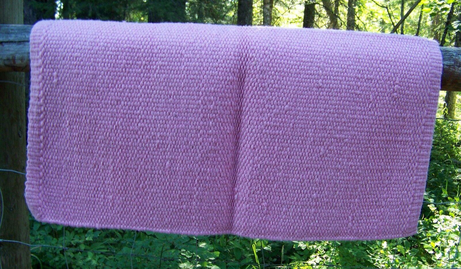 San Juan Solid Wool Show Blanket - 34 x 36 (Sweet Pink) by Mayatex