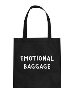 Image is loading Emotional-Baggage-Tote-Shoulder-Bag-Handbag-Funny-Slogan- 1602e69206