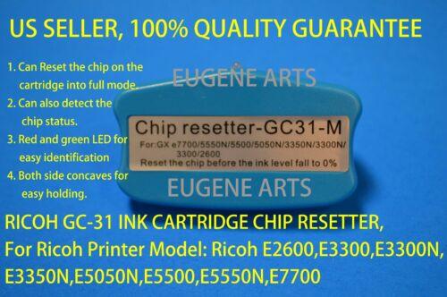 Ricoh GC-31 Ink Cartridge Resetter E2600 E3300 E3300N E3350N E5050N E5500 E5550N