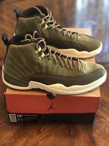 low priced 99100 35661 Details about 2018 Nike Air Jordan 12 Retro Olive/Campus Metallic Gold