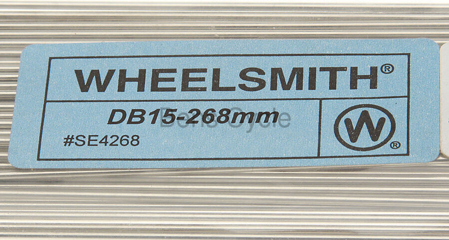 Wheelsmith DB15 Spokes Double Butted 282mm 15g 1.8//1.5//1.8 Lot of 10 Silver NEW