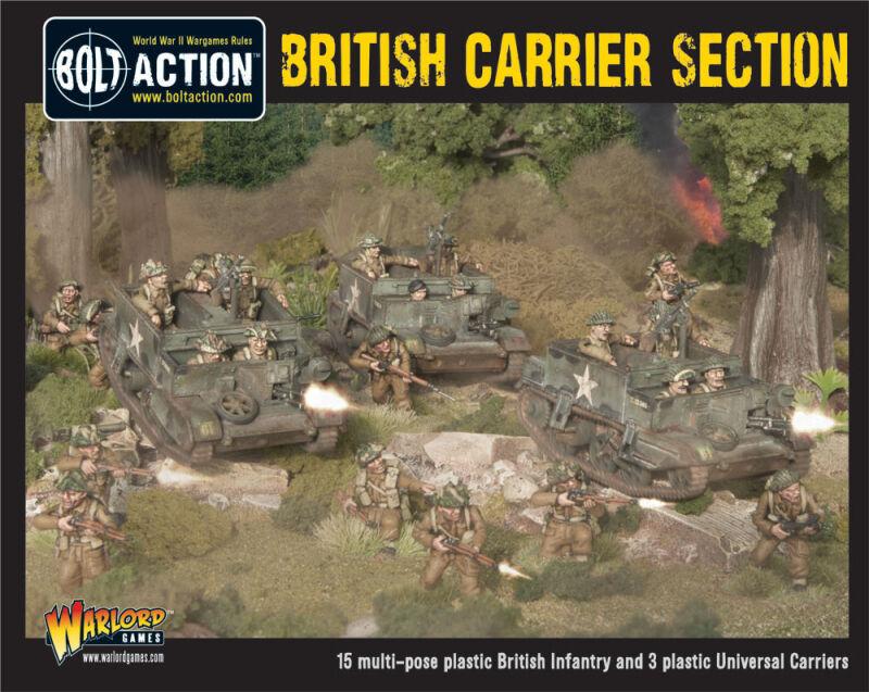 Sección de portadora británico de acción Perno Perno acción Warlord Juegos 28mm