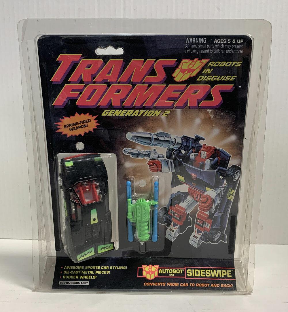 Sideswipe Transformers G2 Robots in Disguise Sellado HASBRO 1992