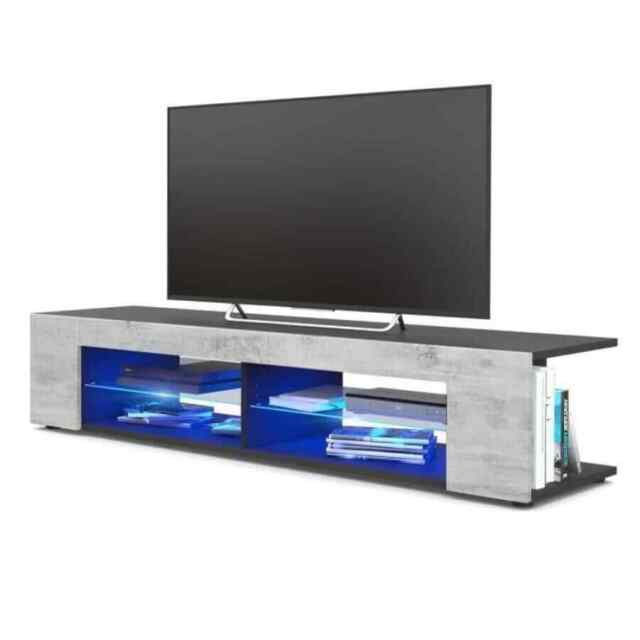 Detachable TV Stand Unit Cabinet Media Storage Entertainment Center w/LED Light