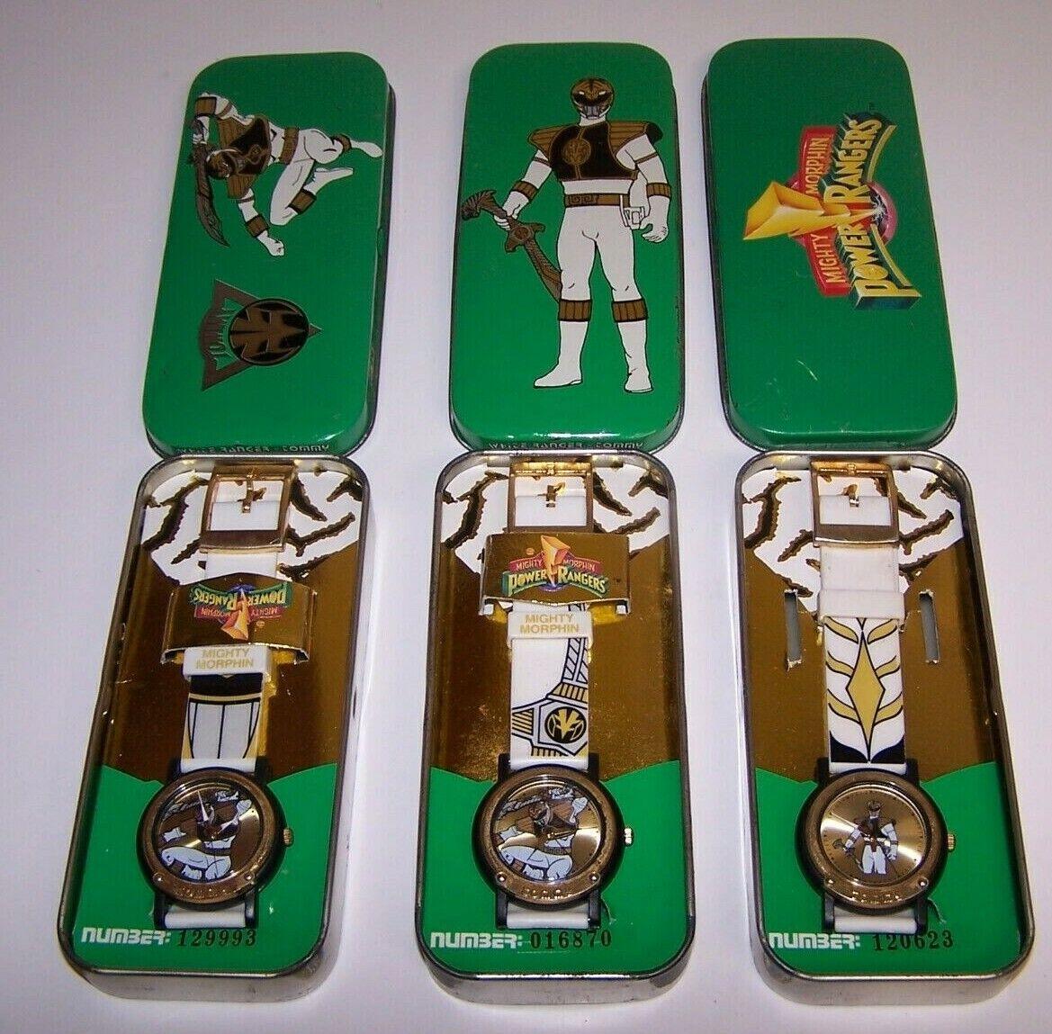 White Power Ranger Wrist Watch W Tin Quartz 1994 NIB