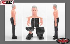 "RC4WD Scale 6"" 150mm Action Driver Figure Man & cloths CUTTER Grey"