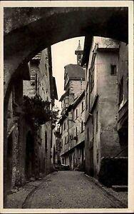 Riquewihr-Haut-Rhin-Frankreich-Elsass-Alsace-1930-Cour-des-Juifs-Strassenpartie