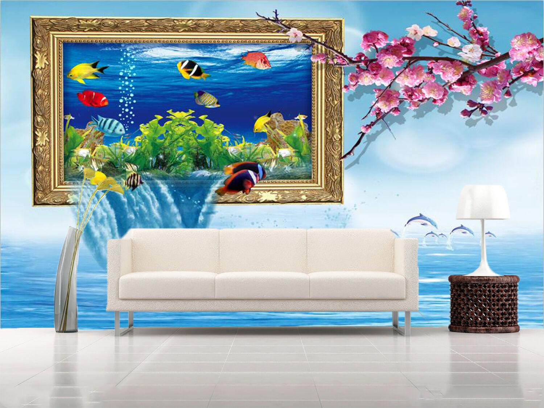 3D Fish Ocean World Photo 543 Wall Paper Wall Print Decal Wall AJ WALLPAPER CA