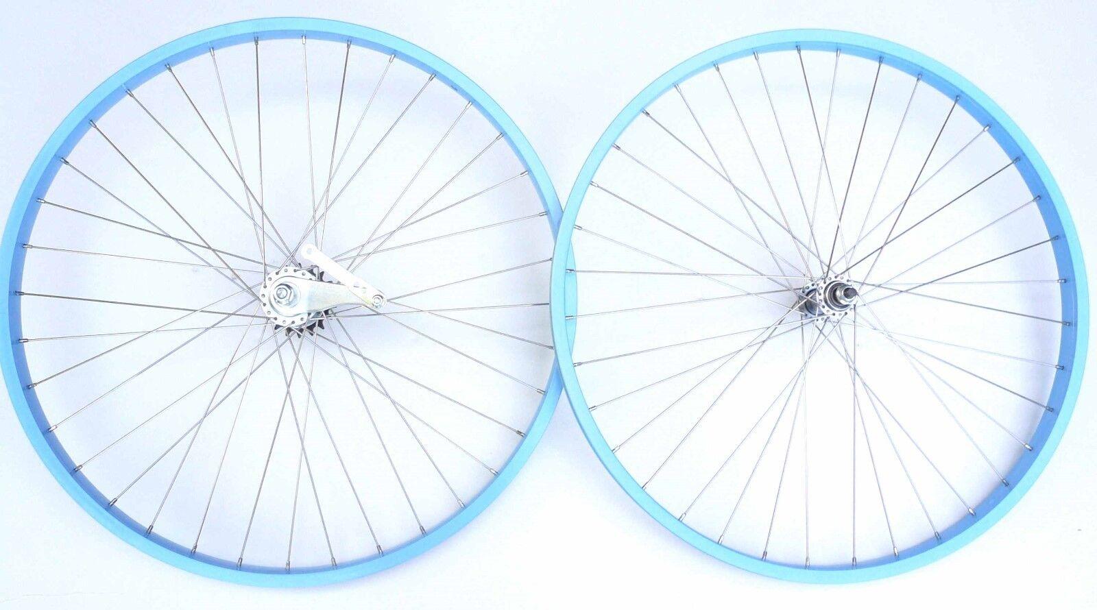 Beach Cruiser bike 26 x1.75 Rear &  Front Clincher Wheels Baby blueee  free shipping!