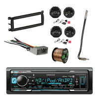 Kenwood Receiver W/speaker, Dash Kit, Antenna Adapter,wiring Harness & Wire on sale