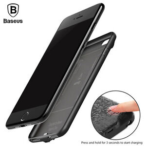 best cheap 539e5 3010f Details about Baseus Battery Charger Case For iPhone 7 7 Plus 7300mAh  Backup Power Bank Cover