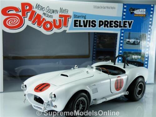 Film épineux Shelby Cobra 427 Elvis Presley à l'échelle 1/18 1965 Numéro blanc