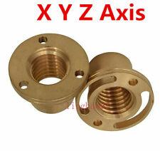 2pcsset Milling Machine Longitudinal Brass Feed Nut X Y Z Axis For Bridgeport