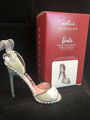 Special Edition Ornament Brand New Unopened Hallmark 2017 Barbie Shoe-Sational