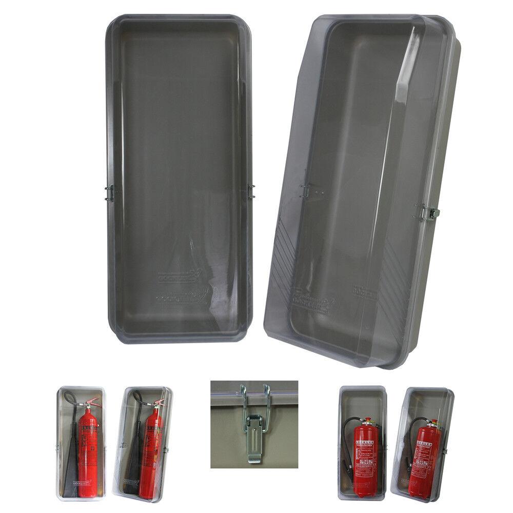12 kg Feuerlöscher Schutzbox l Löscher Kasten Schutzhaube Klarsichtschutzbox