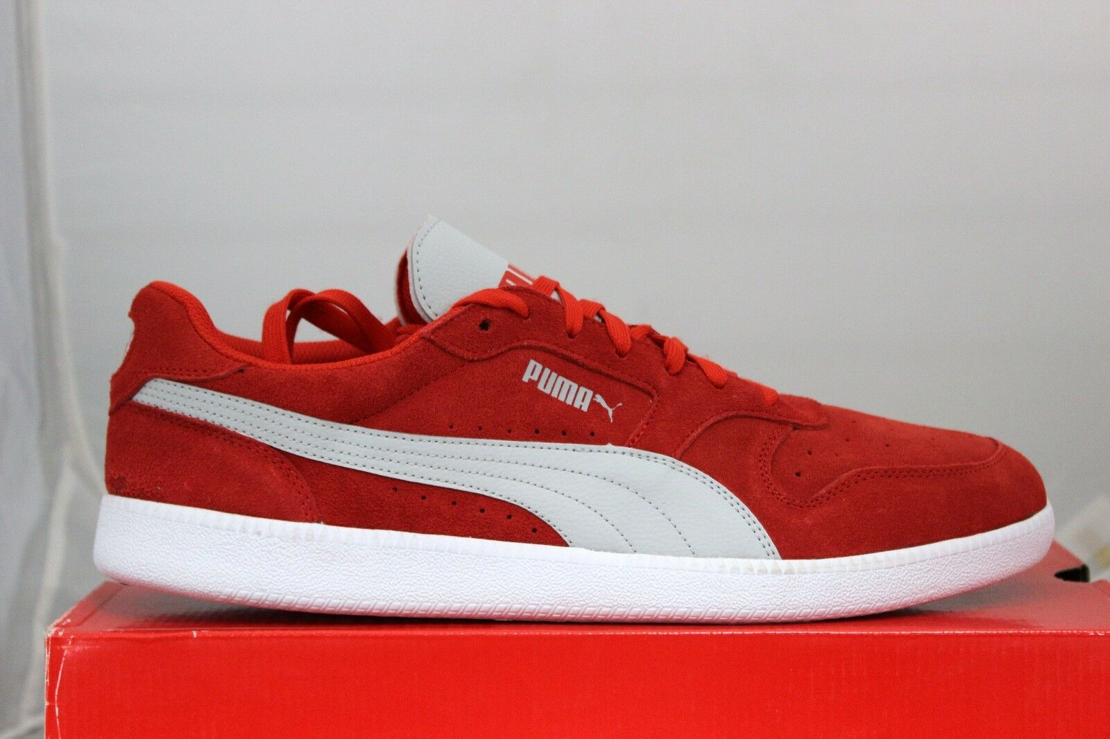 Puma icra trainer sd 35674106 alto rischio rischio rischio red gray violet in scatola ebbb80