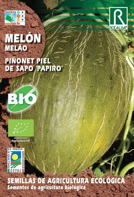 Semillas ECOLOGICAS Melon Piñonet Piel de Sapo Papiro , Sobre 3 gr.