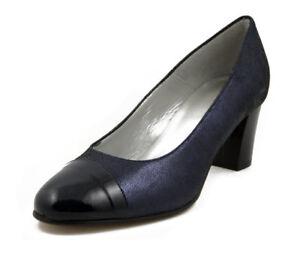 43a0ed5757 Caricamento dell'immagine in corso Scarpe-Donna-Eleganti-Decolte-Comfort- Pianta-Larga-Pelle-
