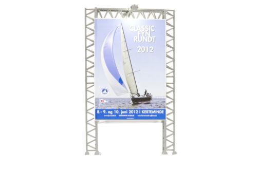 LED blanco #neu en OVP # Kibri 49809 pista h0 pared anuncios con 2 flutlichtstrahlern