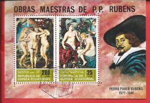 Gemälde Von Peter Paul Rubens Block 78 Äquatorialguinea Geschickte Herstellung Briefmarken Äquatorialguinea