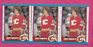3-X-1989-90-OPC-202-FLAMES-GARY-ROBERTS-ROOKIE-NRMT-MT-CARD-INV-C0572
