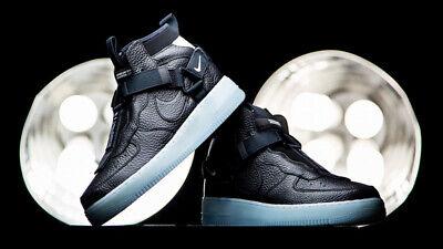 NIKE AIR FORCE 1 utilitaire mi bottes noir et bleu glace UK 8 EUR 42.5 US 9   eBay