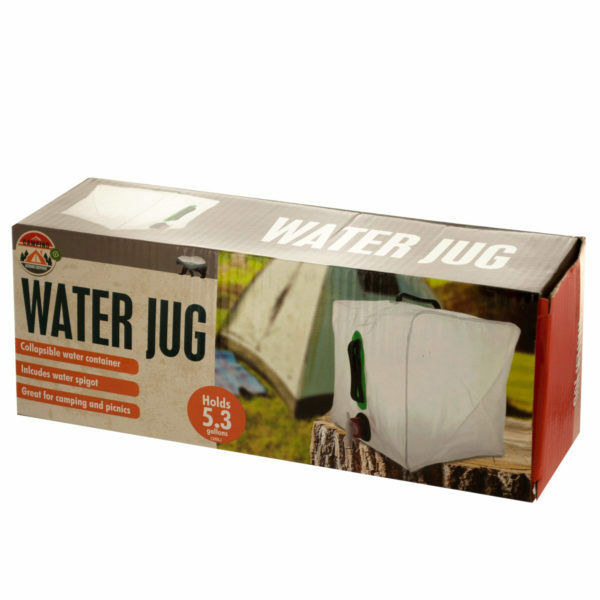 Set of 4 Bulk Lot 5.3 Gallon Collapsible Camping Water Jug