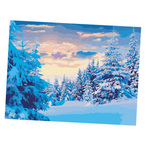 e8626701 Details about DIY Oil Painting Paint by Numbers Kit for Adult Kids, The  snow of the forest