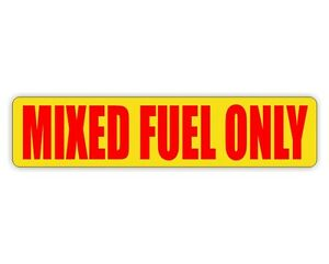 Image is loading MIXED-FUEL-ONLY-Vinyl-Decal-Sticker-Door-Labels-  sc 1 st  eBay & MIXED FUEL ONLY Vinyl Decal / Sticker / Door Labels Truck Gasoline ...