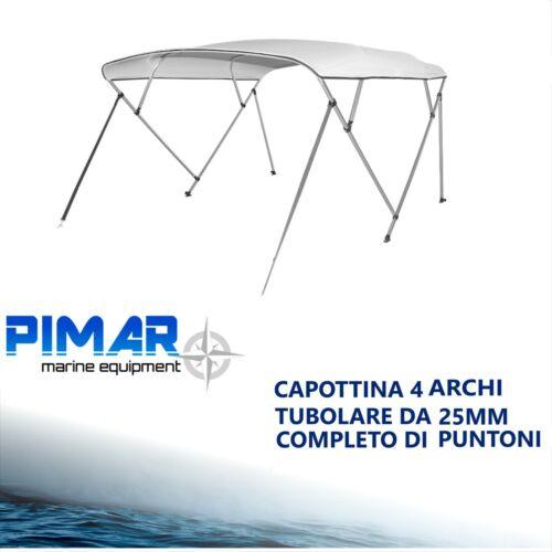 Tendalino 4 archi BEST PRICE in alluminio Ø25mm barca gommone 220//240 nautica
