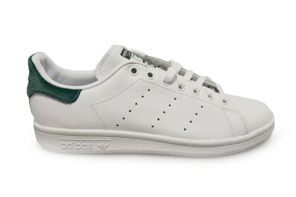 Damenschuhe Adidas Stan Smith - BA7502 - WEISS Green Trainers