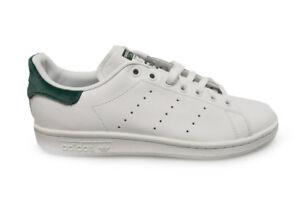 Da Donna Adidas Stan SmithBA7502Bianco Verde Scarpe Da Ginnastica
