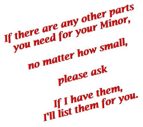 """pair Morris /""""Minor/"""" parcel shelf brackets//spacers"""