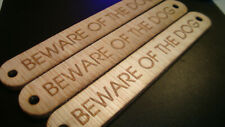 S89 WARNING BEWARE OF THE CAT Gift Craft Shape MDF Plaque Sign Laser Cut Wooden